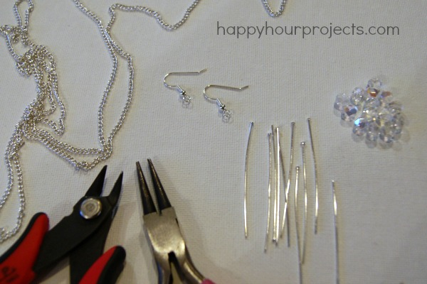 Cascading Dangle Earrings at www.happyhourprojects.com