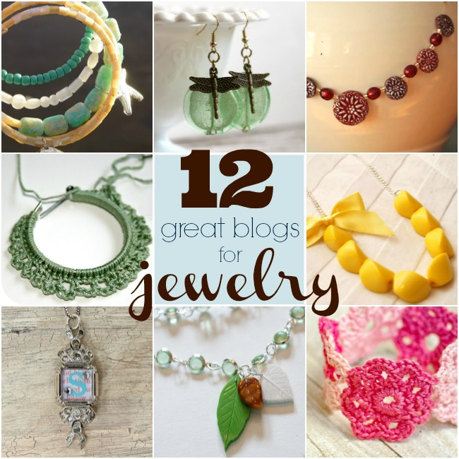 12 Great Blogs for Jewelry at www.happyhourprojects.com