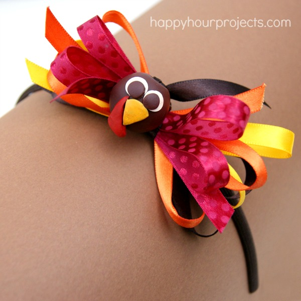 Thanksgiving Turkey Bow Headband with the Bowdabra