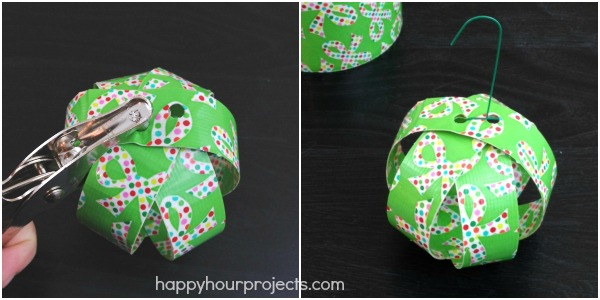 Unbreakable DIY Duck Tape Ornaments at www.happyhourprojects.com - Unbreakable DIY Duck Brand® Duck Tape Ornaments - Happy Hour Projects
