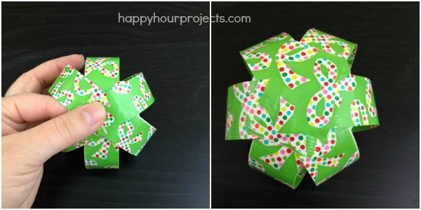 Unbreakable DIY Duck Tape Ornaments at www.happyhourprojects.com