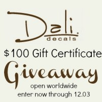 $100 Dali Decals Gift Certificate at Happy Hour Projects