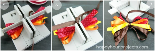 Thanksgiving Turkey Bow Headband with the Bowdabra at www.happyhourprojects.com