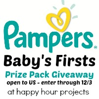Pampers Prize Pack Giveaway at Happy Hour Projects