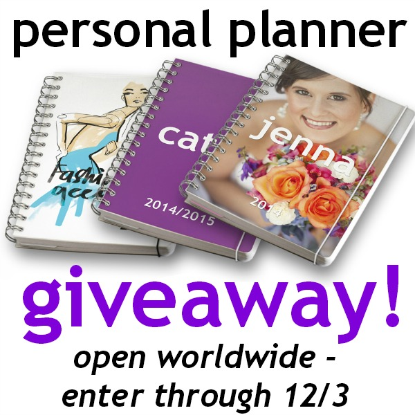 Custom Designed Personal Planner Giveaway!