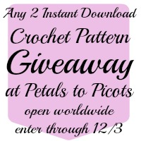 Petals to Picots Crochet Pattern Giveaway at Happy Hour Projects