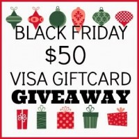 $50 VISA Giftcard Giveaway through December 5 at One Tough Mother