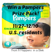 Pampers Prize Pack at It Happens In A Blink