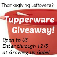 $57 Tupperware Giveaway at Growing Up Gabel