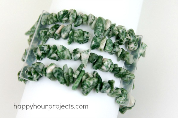 Agate Stretch Bracelet at www.happyhourprojects.com