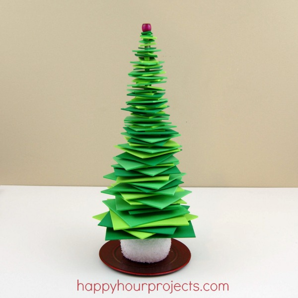 Simple Foam Stacker Christmas Tree at www.happyhourprojects.com