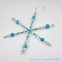 Easy Beaded Snowflake Ornaments with #MyFavoriteBloggers