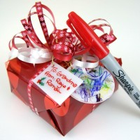 Bust Out Your Sharpies for Shrink Plastic Gift Tags
