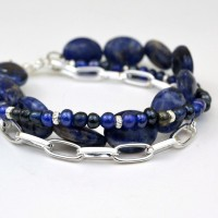 Multi-Strand Mixed Media Bracelet