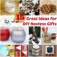 15 Great Ideas for DIY Hostess Gifts at www.happyhourprojects.com