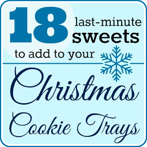 18 Easy Sweets and Treats for Cookie Trays at www.happyhourprojects.com