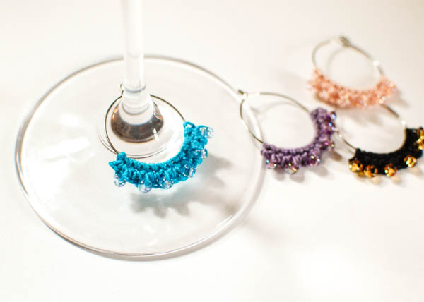 Beaded Crochet Wine Glass Charms at Petals To Picots