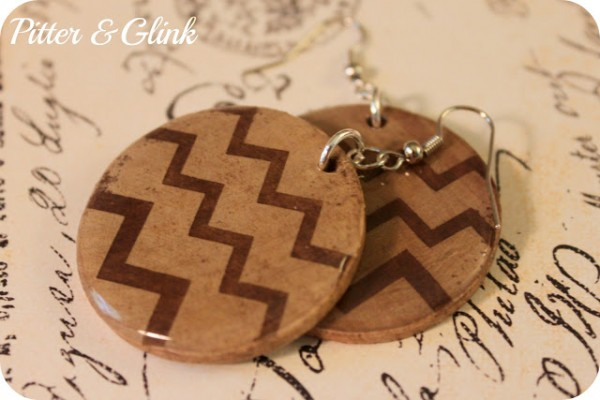 Chevron Earrings at Pitter and Glink