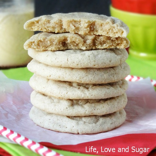Eggnog Cookies at Life, Love and Sugar