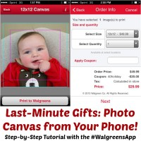 Tutorial: Photo Canvas From Your Phone With the #WalgreensApp