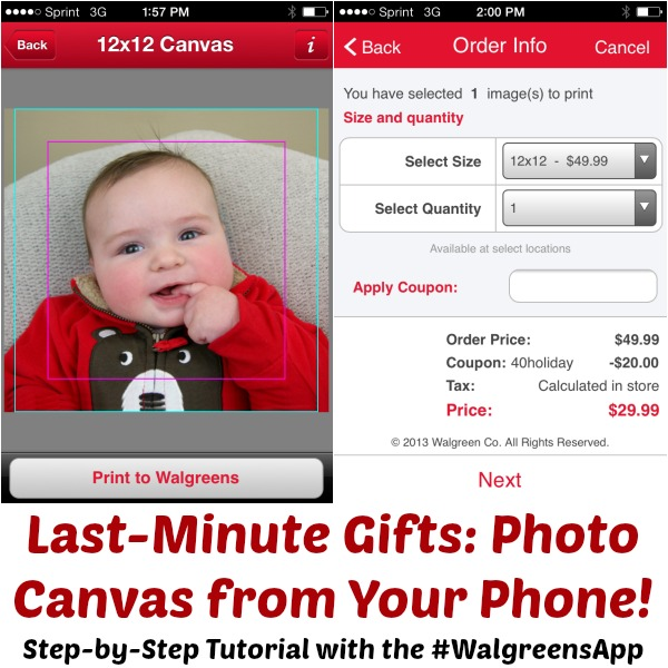 How to Print Photo Gifts in One Hour From Your Phone with the #WalgreensApp at www.happyhourprojects.com #shop