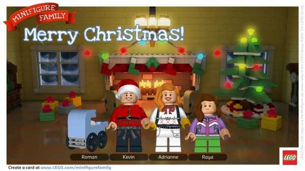 Free #LEGO Minifigure Family Christmas Card