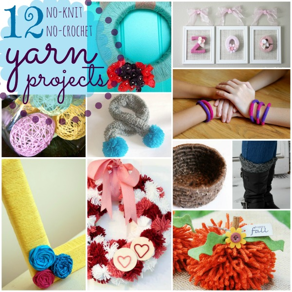 12 No-Knit, No-Crochet Yarn Projects at Happy Hour Projects