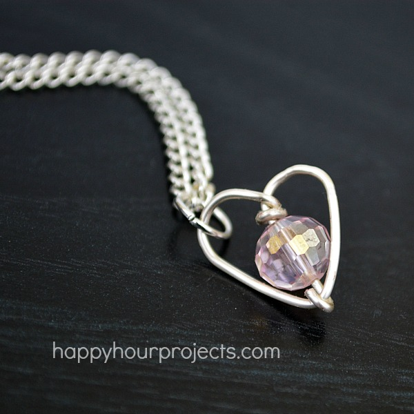 Handmade Valentine's Gifts: DIY Wire-Wrapped Heart Necklace