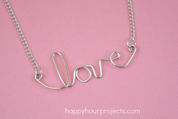 "Easy Wire ""Love"" Necklace"