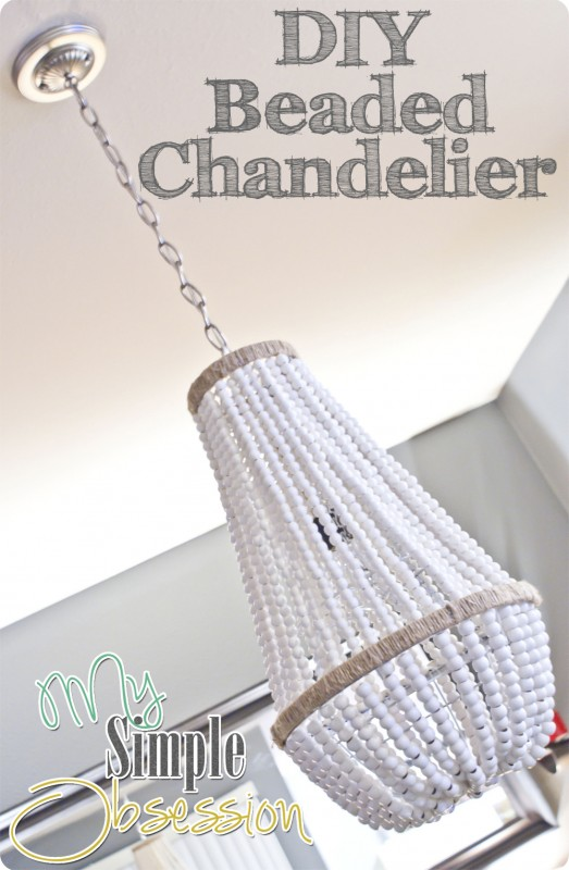 Beaded Chanedlier at My Simple Obsession