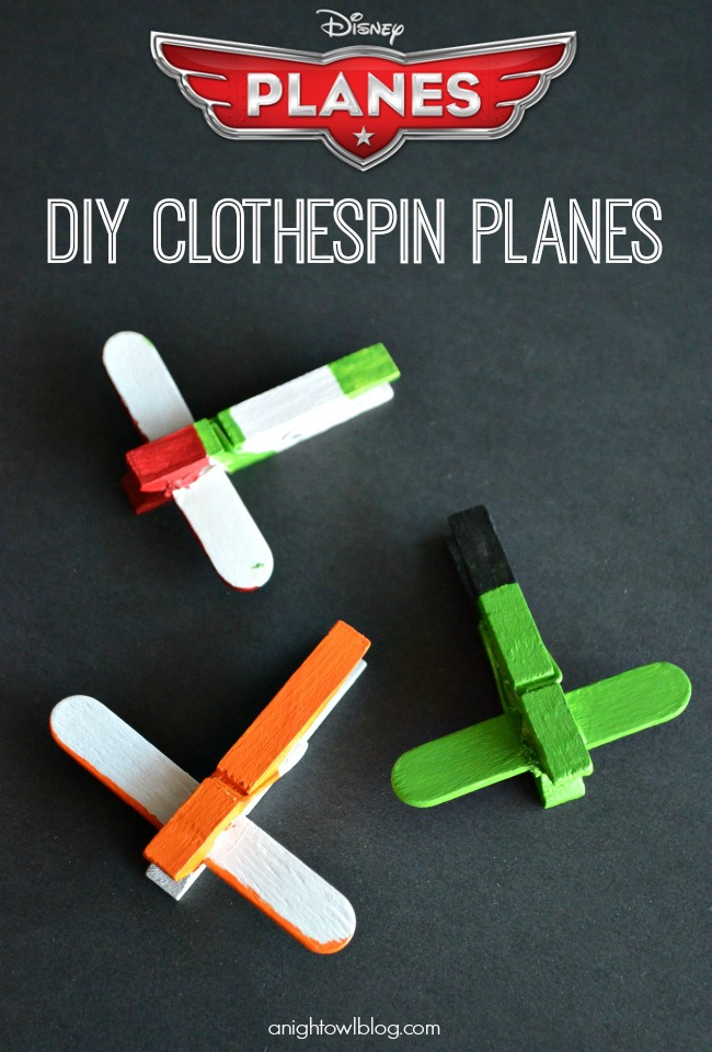 Clothespin Planes at A Night Owl Blog
