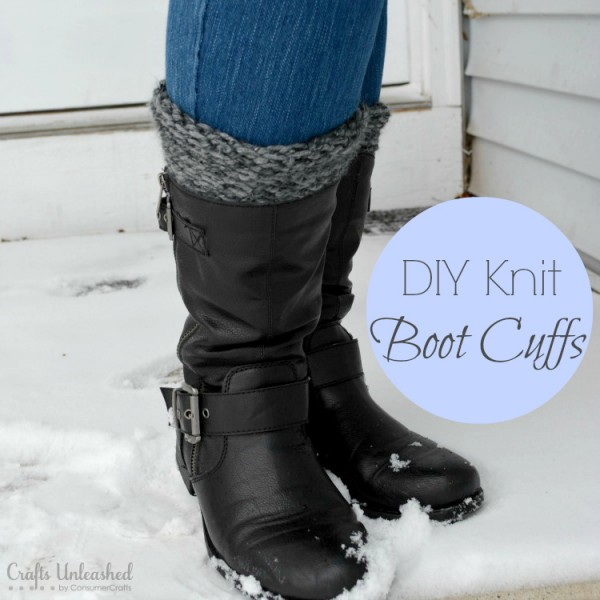 DIY Loom Knit Boot Cuffs at Crafts Unleashed