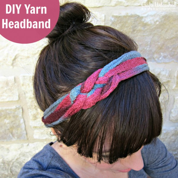 DIY Yarn Headband at Crafts Unleashed