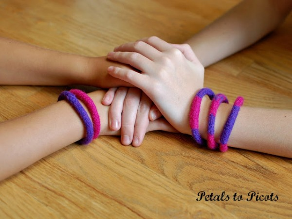 Felted Bracelets at Petals to Picots
