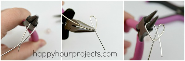 DIY Handmade Valentine's Gift - Wire Wrapped Heart Necklace Tutorial at www.happyhourprojects.com