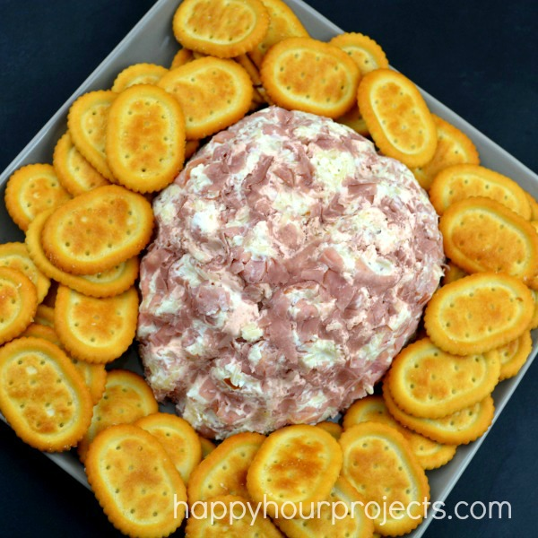 Brain Shaped Ham & Onion Cheeseball - For Halloween or Walking Dead Zombie Parties! at www.happyhourprojects.com