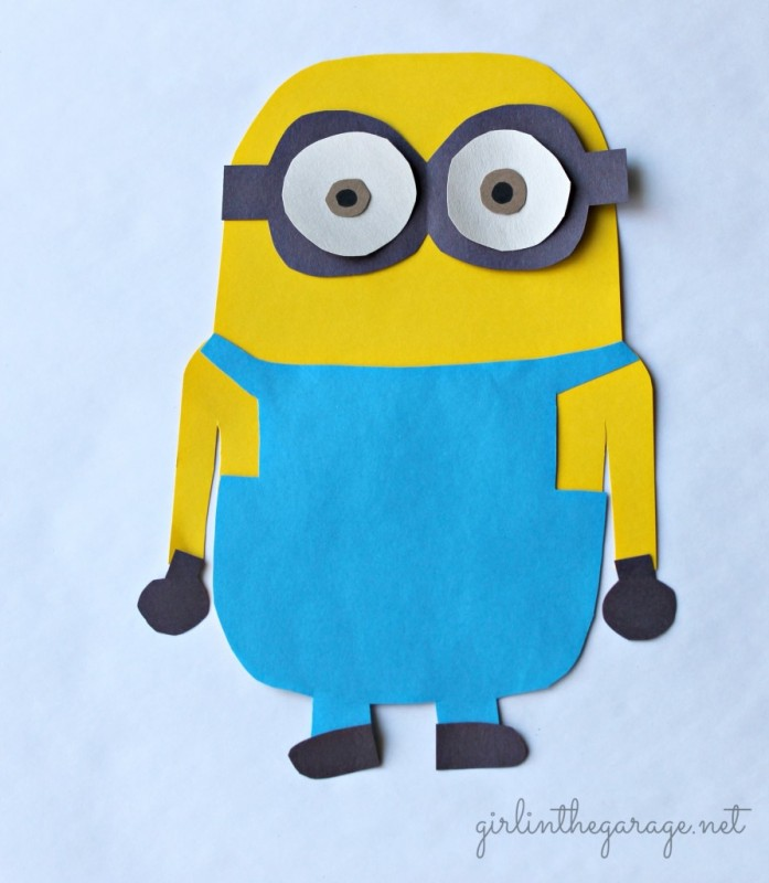 Make Your Own Minion - Kids' Paste Project at Girl In the Garage