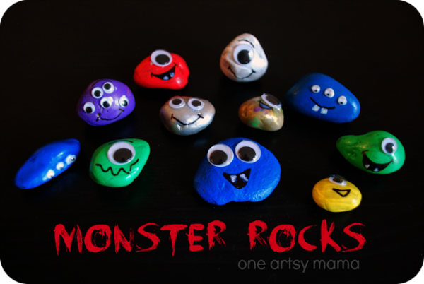 Monster Rocks at One Artsy Mama
