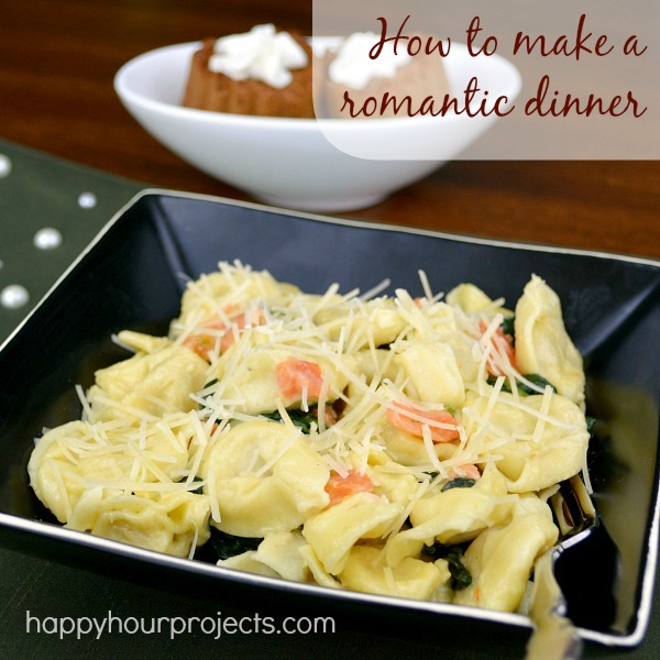 How to Make an Easy Romantic Meal: Chicken Tortellini Alfredo and Tres Leches Mini Cakes