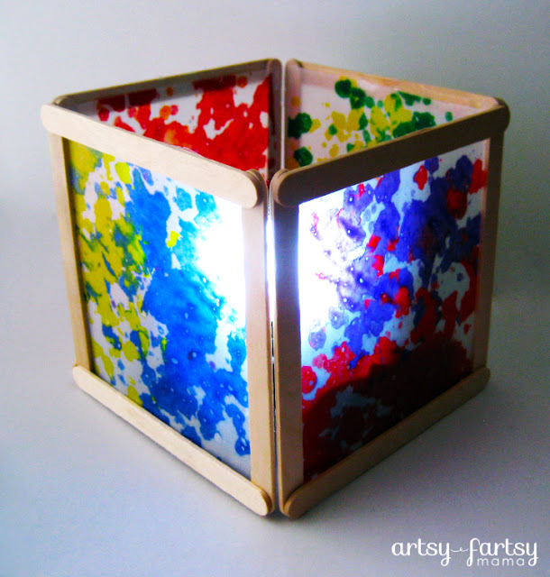 Wax Paper Lantern at Artsy Fartsy Mama