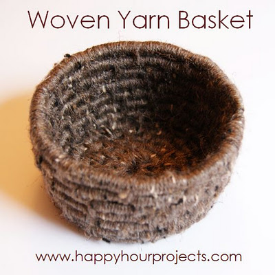 Woven Yarn Basket at Happy Hour Projects