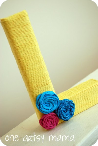 Yarn Wrapped Monogram at One Artsy Mama