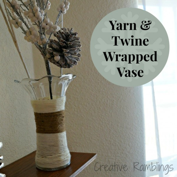 Yarn and Twine Wrapped Vase at Creative Ramblings