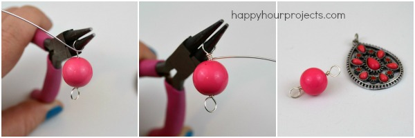 Using Connectors to Make an Easy Necklace at www.happyhourprojects.com