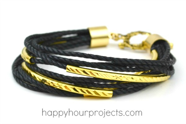 Gold Layered Bracelet at www.happyhourprojects.com