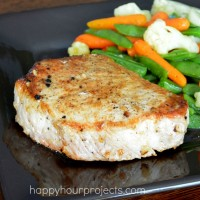Easy Skillet Pork Chops at www.happyhourprojects.com