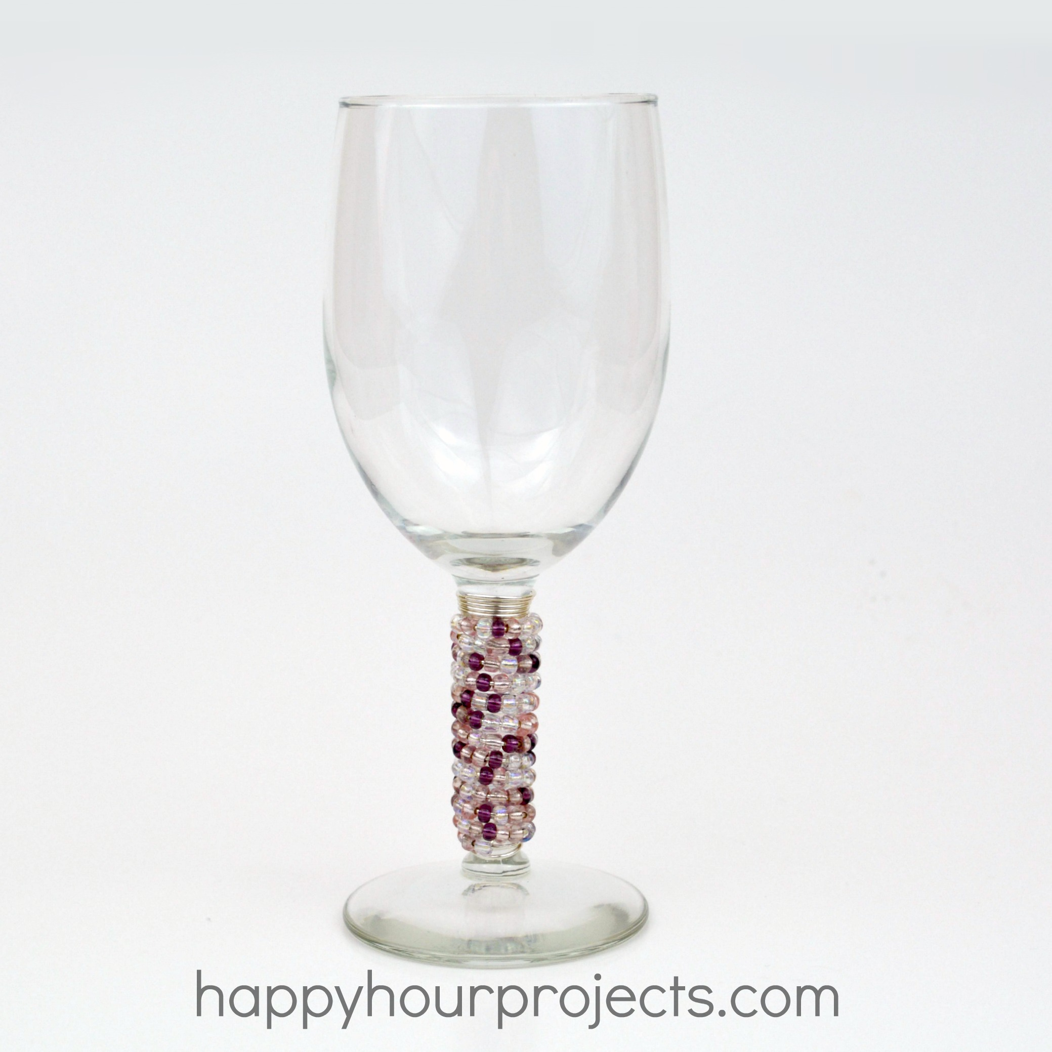 Beaded Dollar Store Wine Glasses
