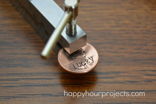 Hand Stamped Lucky Penny Necklace at www.happyhourprojects.com