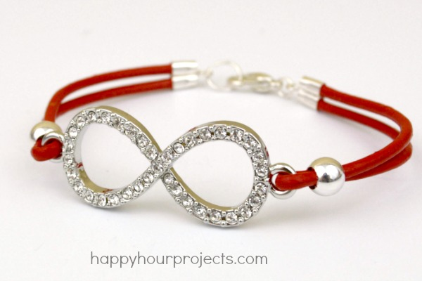 Easy Leather Infinity Bracelet At Www Hyhourprojects