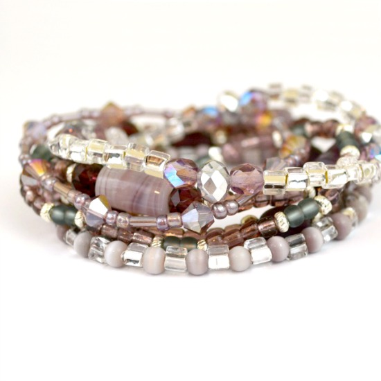 Easy Stacked Bracelets Make a Statement at www.happyhourprojects.com
